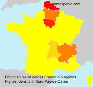 Surname Nelva in France