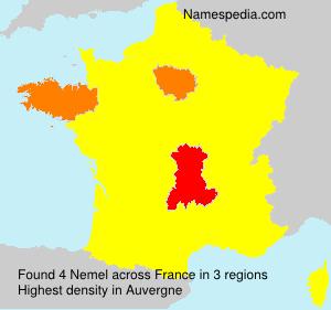 Surname Nemel in France