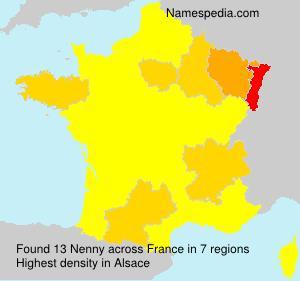 Familiennamen Nenny - France