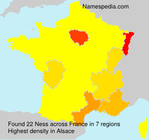 Surname Ness in France