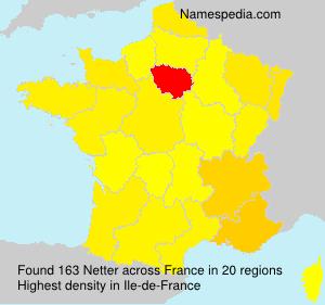 Familiennamen Netter - France