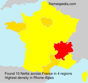 Surname Nettis in France