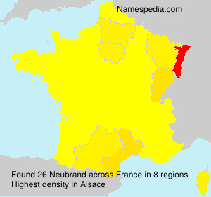 Surname Neubrand in France