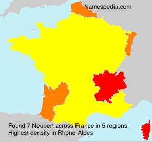 Surname Neupert in France