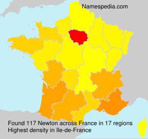 Surname Newton in France