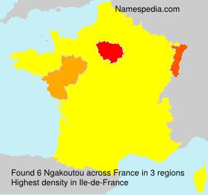 Familiennamen Ngakoutou - France