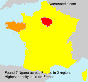 Surname Ngana in France