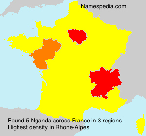 Surname Nganda in France