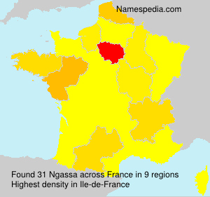 Surname Ngassa in France