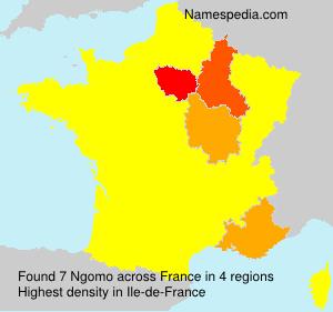Familiennamen Ngomo - France