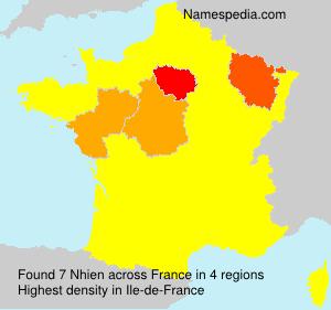 Surname Nhien in France