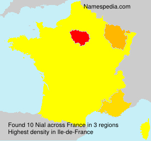 Surname Nial in France