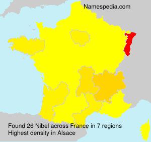 Surname Nibel in France