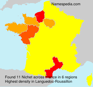 Surname Nichet in France