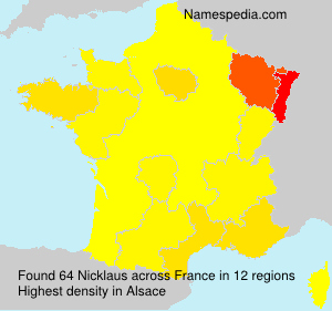 Surname Nicklaus in France