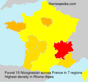 Surname Nicogossian in France