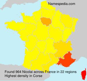 Surname Nicolai in France