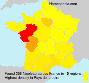 Surname Nicoleau in France