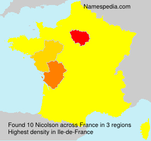 Surname Nicolson in France
