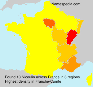 Surname Nicoulin in France