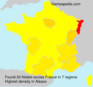 Surname Niebel in France
