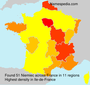 Familiennamen Niemiec - France