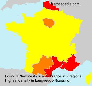 Familiennamen Niezborala - France