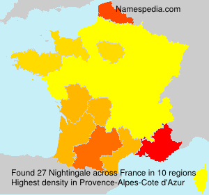 Surname Nightingale in France