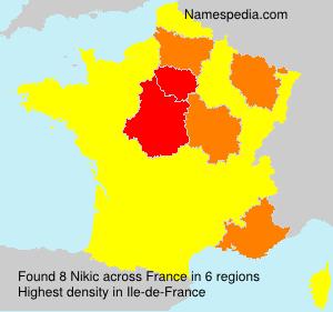 Surname Nikic in France