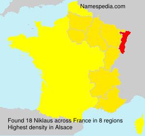 Familiennamen Niklaus - France