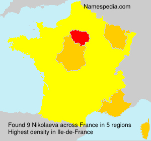 Surname Nikolaeva in France