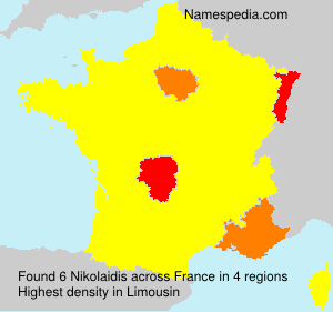 Surname Nikolaidis in France