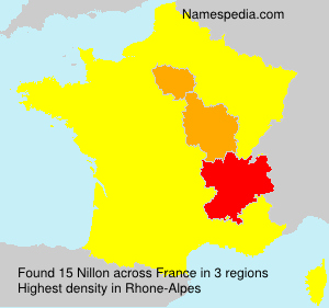Surname Nillon in France