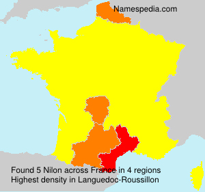 Surname Nilon in France
