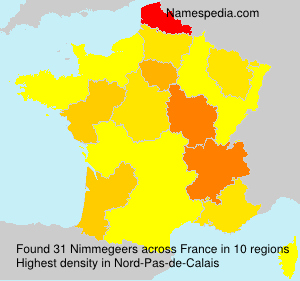 Surname Nimmegeers in France