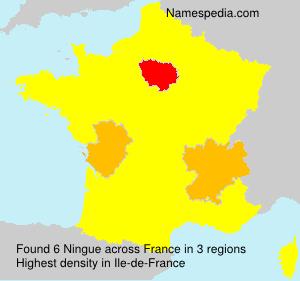 Familiennamen Ningue - France