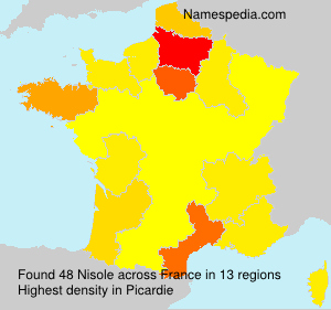 Surname Nisole in France