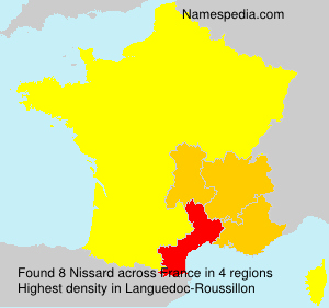Surname Nissard in France