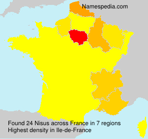 Surname Nisus in France