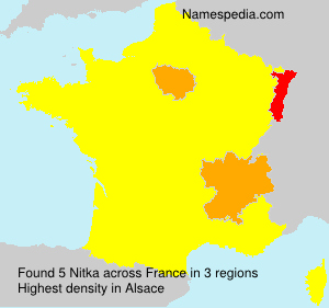 Surname Nitka in France