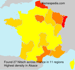 Surname Nitsch in France