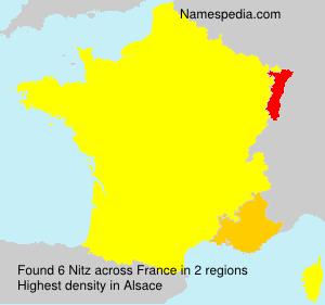 Familiennamen Nitz - France