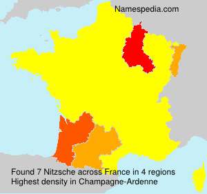 Surname Nitzsche in France