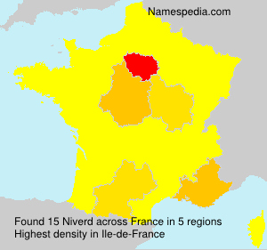 Surname Niverd in France
