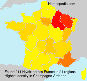 Surname Nivoix in France