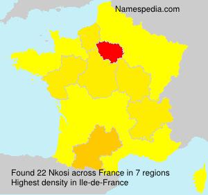 Surname Nkosi in France