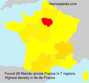 Surname Nlandu in France