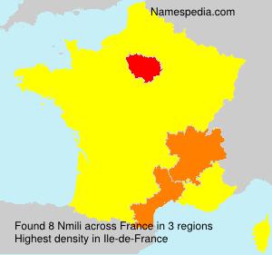 Surname Nmili in France
