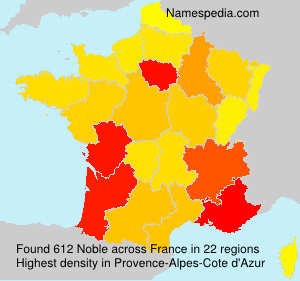 Surname Noble in France