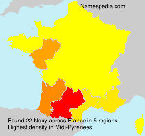 Surname Noby in France